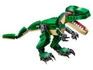 Tiranosaure rex fet de peces de Lego